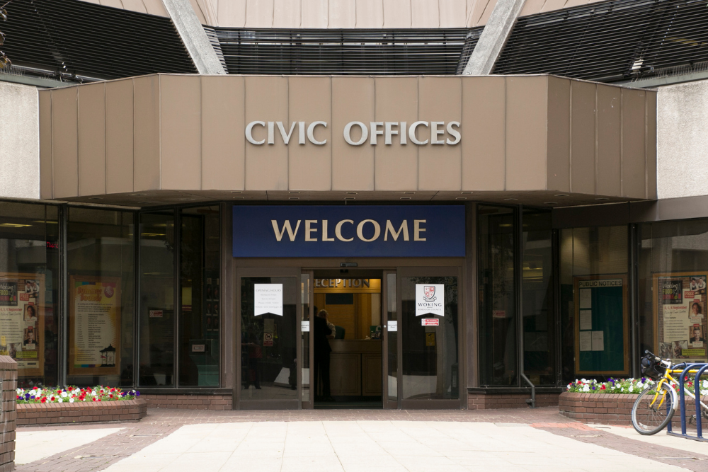 Front entrance to the Civic Offices
